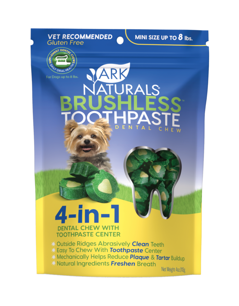 Ark Naturals Ark Naturals Breath-Less Brushless Toothpaste Mini Up to 8lbs Dog Chews 4oz