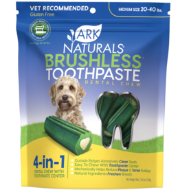 Ark Naturals Ark Naturals Breath-Less Brushless Toothpaste Medium 20-40lbs Dog Chews 18oz