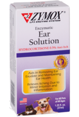 Zymox Zymox Ear Solution with .5% Hydrocortisone for Dogs & Cats 1.25oz