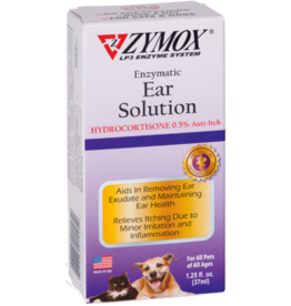 Zymox Zymox Ear Solution with .5% Hydrocortisone for Dogs & Cats 1.25oz