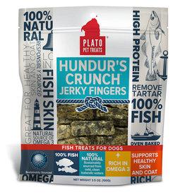 Plato Plato Hundur's Crunch Fish Jerky Fingers Dog Treats 3.5oz