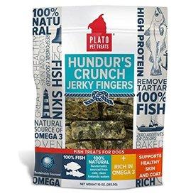 Plato Plato Hundur's Crunch Fish Jerky Fingers Dog Treats 10oz