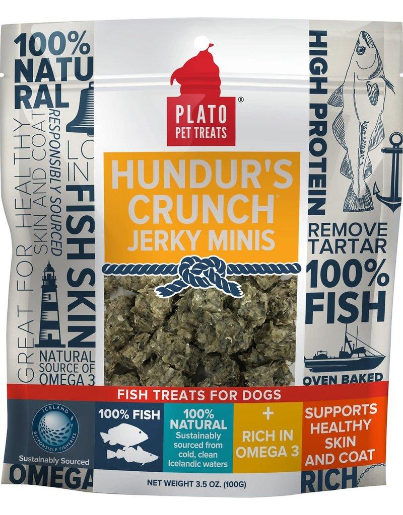 Plato Plato Hundur's Crunch Fish Jerky Mini's Dog Treats 3.5oz