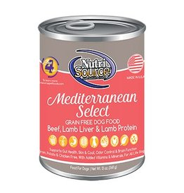 NutriSource Super Premium Pet Foods NutriSource Grain Free Mediterranean Select Canned Dog Food 13oz
