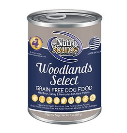 NutriSource Super Premium Pet Foods NutriSource Grain Free Woodlands Select Canned Dog Food 13oz