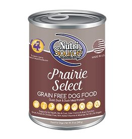 NutriSource Super Premium Pet Foods NutriSource Grain Free Prairie Select Canned Dog Food 13oz