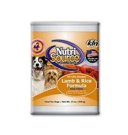 NutriSource Super Premium Pet Foods NutriSource  Lamb & Rice Canned Dog Food 13oz