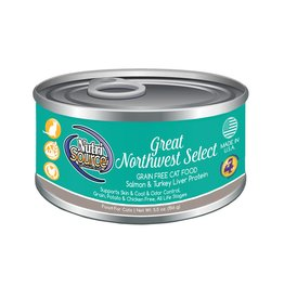 NutriSource Super Premium Pet Foods NutriSource Grain Free Great Northwest Select Canned Cat Food 5.5oz