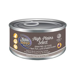 NutriSource Super Premium Pet Foods NutriSource Grain Free High Plains Select Canned Cat Food 5.5oz