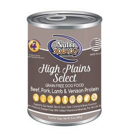 NutriSource Super Premium Pet Foods NutriSource Grain Free High Plains Select Canned Dog Food 13oz