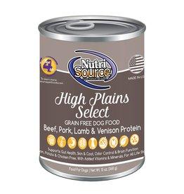 NutriSource Super Premium Pet Foods NutriSource High Plains Select Canned Dog Food 13oz