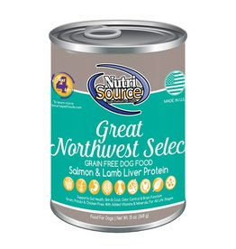 NutriSource Super Premium Pet Foods NutriSource Grain Free Northwest Select Canned Dog Food 13oz