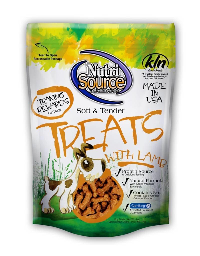 NutriSource Super Premium Pet Foods NutriSource Soft & Tender Lamb Dog Treats 6oz