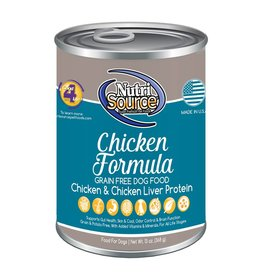NutriSource Super Premium Pet Foods NutriSource Grain Free Chicken Formula Canned Dog Food 13oz