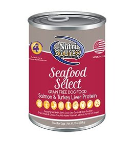 NutriSource Super Premium Pet Foods NutriSource Seafood Select Canned Dog Food 13oz