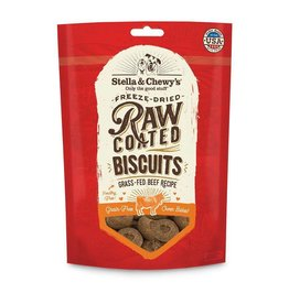 Stella & Chewy's Grass-Fed Beef Raw Coated Biscuits Dog Treats 9oz