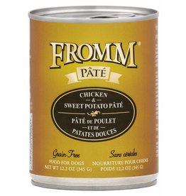 Fromm Family Foods Fromm Chicken & Sweet Potato Pate Canned Dog Food 12.2oz