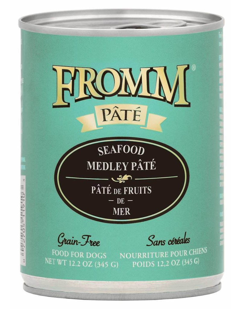 Fromm Fromm Grain Free Seafood Medley Pate Canned Dog Food 12.2oz