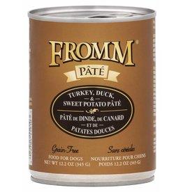 Fromm Fromm Grain Free Turkey, Duck & Sweet Potato Pate Canned Dog Food 12.2oz
