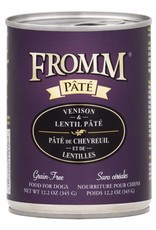 Fromm Fromm Grain Free Venison & Lentil Pate Canned Dog Food 12.2oz