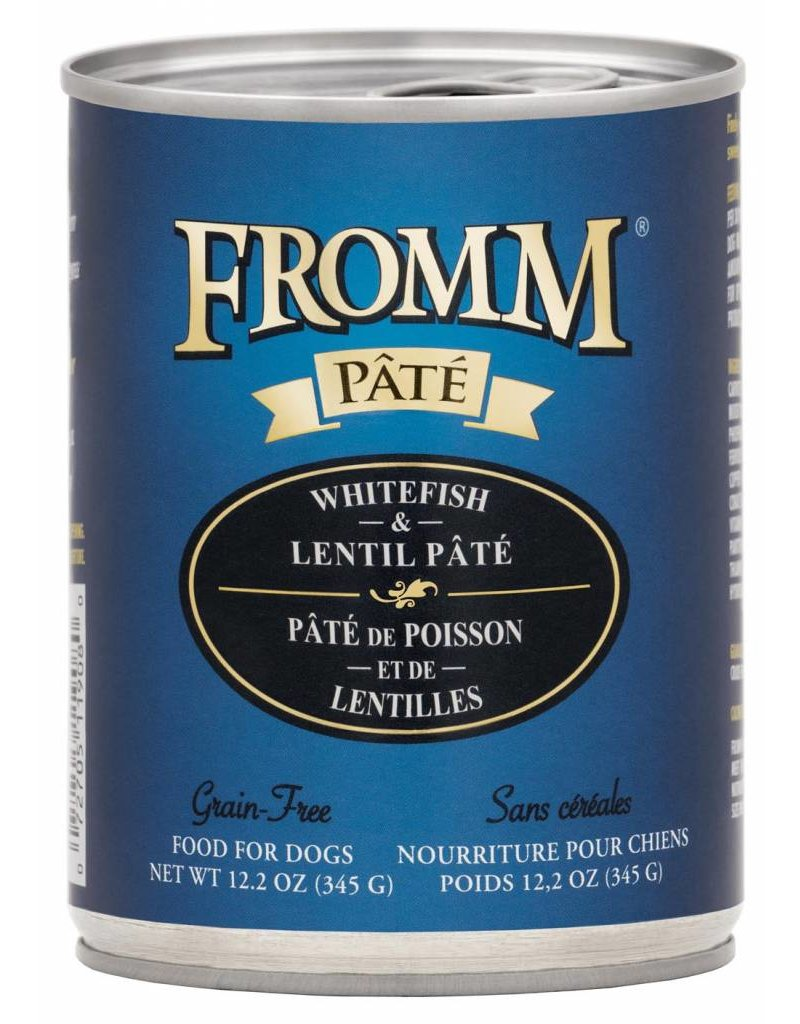 Fromm Fromm Grain Free Whitefish & Lentil Pate Canned Dog Food 12.2oz