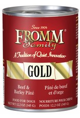 Fromm Fromm Beef & Barley Pate Canned Dog Food 12.2oz