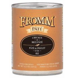 Fromm Family Foods Fromm Chicken & Rice Pate Canned Dog Food 12.2oz