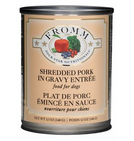 Fromm Family Foods Fromm Shredded Pork Entree Canned Dog Food 12oz