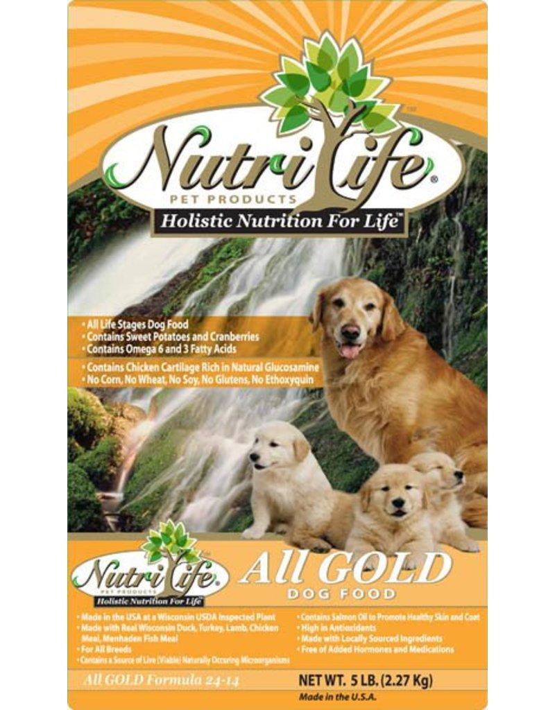 Nutri Life All Gold Formula Dry Dog Food 40lb Mypetfoodstore
