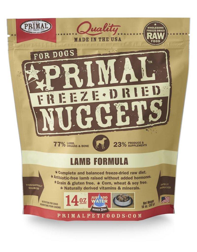 Primal Pet Foods Primal Freeze-Dried Nuggets Lamb Formula Dog Food 14oz