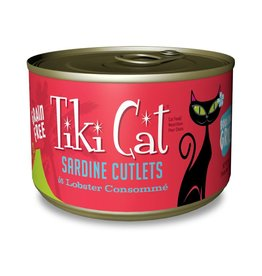 Tiki Pets Tiki Cat Bora Bora Grill Sardine Cutlets in Lobster Consomme Canned Cat Food 6oz