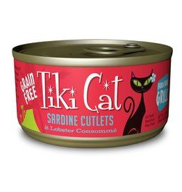 Tiki Pets Tiki Cat Bora Bora Grill Sardine Cutlets in Lobster Consomme Canned Cat Food 2.8oz