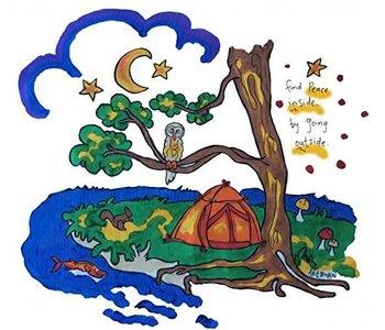 Artburn Pillowcase Peaceful Camping