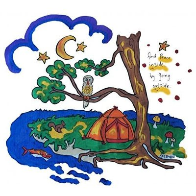 Artburn Artburn Pillowcase Peaceful Camping