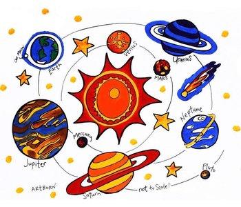 Artburn Pillowcase Solar System