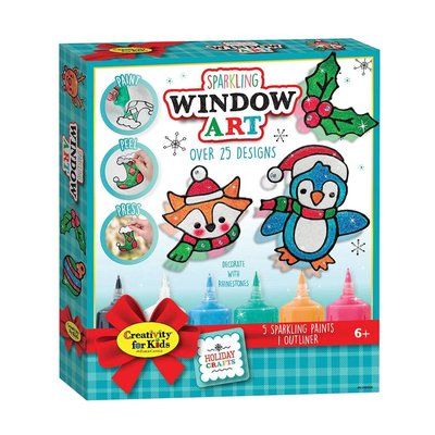 Creativity for Kids Holiday Sparkling Window Art