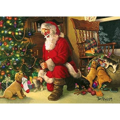 Cobble Hill Puzzles Cobble Hill Family Puzzle 350pc Santa's Lucky Stocking