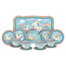 Schylling Tea Set Tin Unicorn