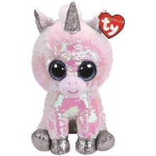 Ty Ty Flippables Sequin Diamond White Unicorn