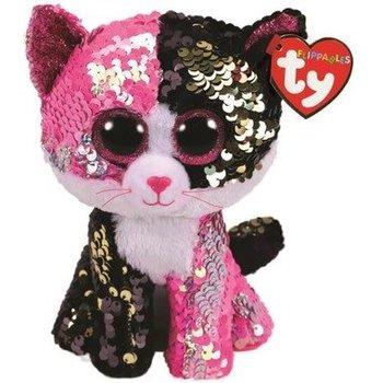 Ty Flippables Sequin Medium Malibu Pink/Black Cat