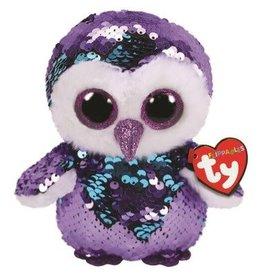Ty Ty Flippables Sequin Medium Moonlight Purple Owl