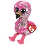 Ty Ty Flippables Sequin Medium Pinky Flamingo