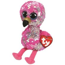 Ty Ty Flippables Sequin Medium Pinky Flamingo