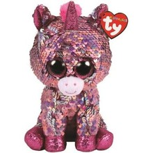 Ty Ty Flippables Sequin Medium Sparkle Pink Unicorn