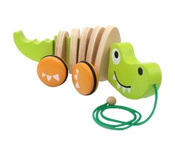 Hape Baby Walk-Along Crocodile