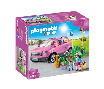 Playmobil Shopping Family Car with Parking Space