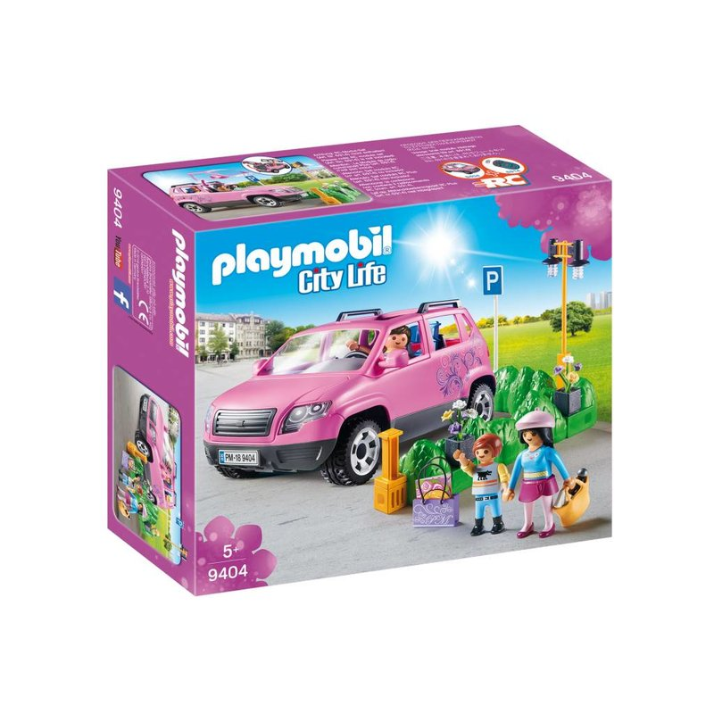 Playmobil Playmobil Shopping Family Car with Parking Space