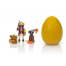 Playmobil Playmobil Easter Egg Pirate with Cannon (yellow)