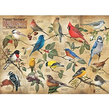 Cobble Hill Puzzles 1000pc Backyard Birds of N.A.