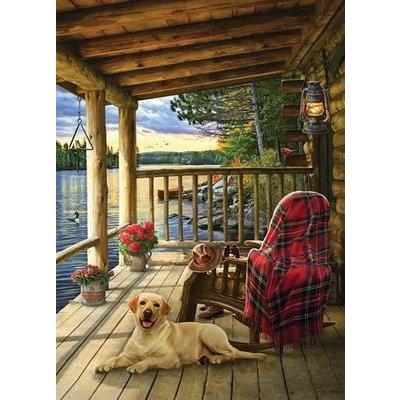 Cobble Hill Puzzles Cobble Hill Puzzle 1000pc Cabin Porch
